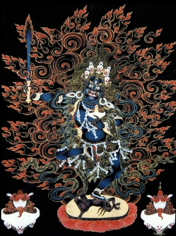 Yeshe Walmo Protector deity of the Bon Lineage She holds a sword of meteorite iron